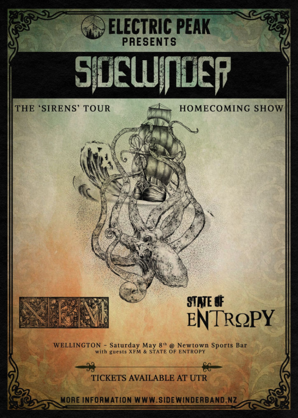 Sidewinder - The 'Sirens' Tour 2021 - Wellington (Homecoming Show) - Cancelled