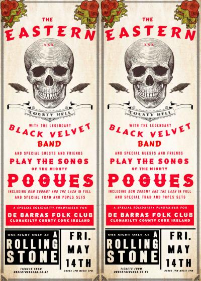 The Eastern And The Black Velvet Band Debarras Fundraiser