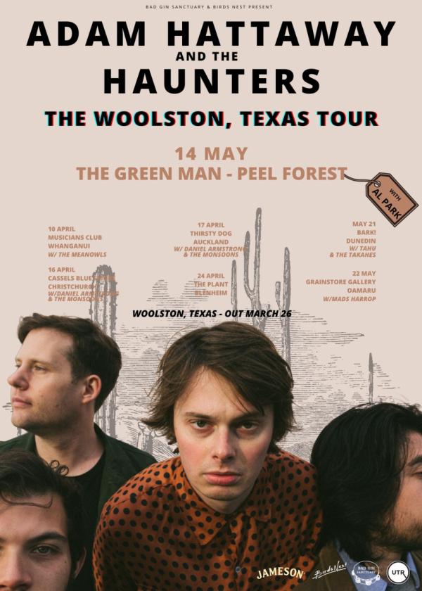 Adam Hattaway And The Haunters - Woolston Texas Tour