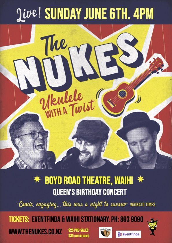 Nukes Ukulele Trio Happy Birthday Queenie