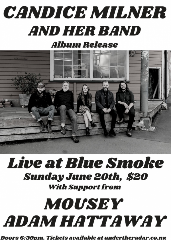 Candice Milner And Band - Album Release w/ Mousey and Adam Hattaway