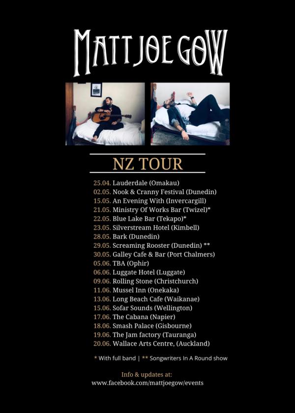 Matt Joe Gow NZ Tour 2021