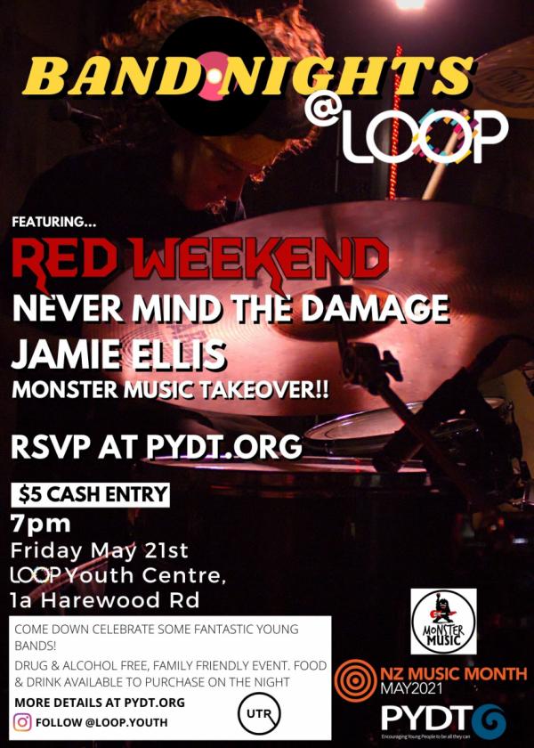Band Nights: Red Weekend, Never Mind The Damage, Jamie Ellis