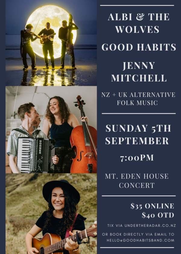 Albi And The Wolves + Good Habits + Jenny Mitchell - House Concert
