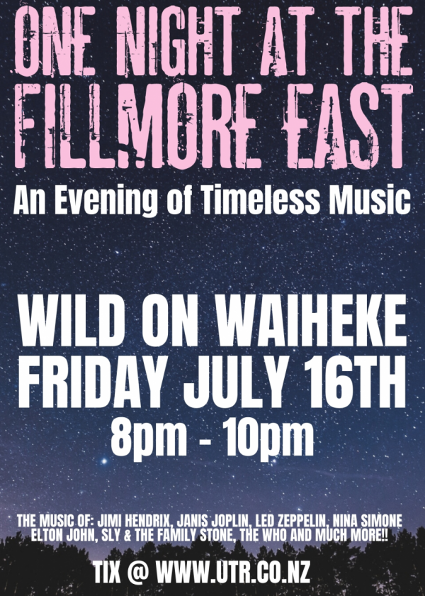 One Night At The Fillmore East: An Evening Of Timeless Music