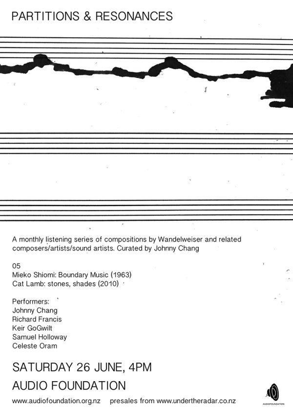 Partitions And Resonances #5 - Mieko Shiomi, Cat Lamb