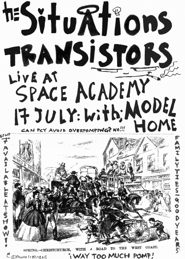 The Situations/Transistors split single release show w/ Model Home