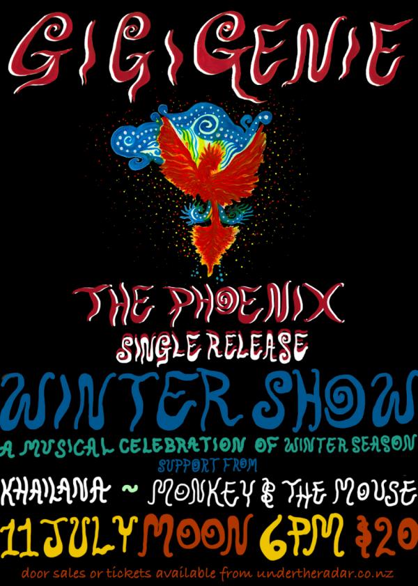 Gigi Genie - The Phoenix Single Release - Winter Show