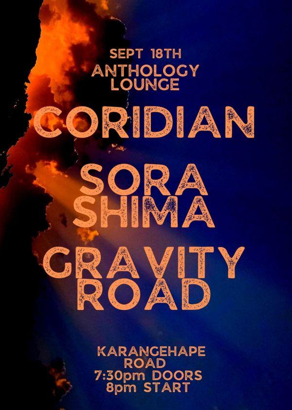 Coridian + Gravity Road + Sora Shima