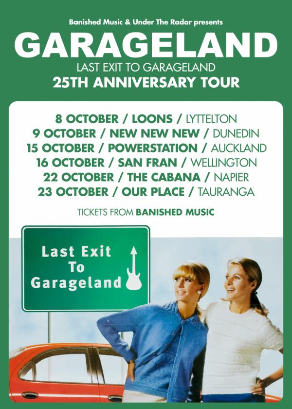 Garageland - Last Exit To Garageland 25th Anniversary Tour