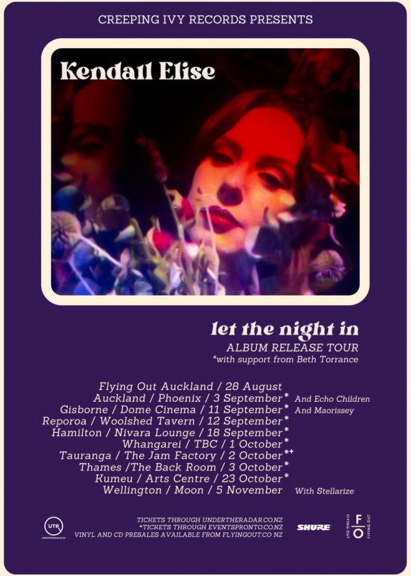 Kendall Elise - Let The Night In - Album Release Tour