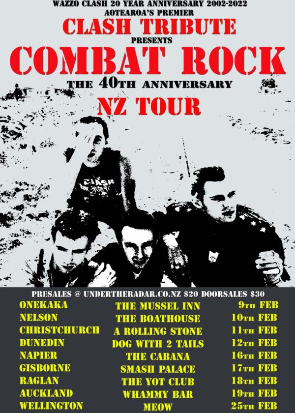 Clash Tribute Show - Combat Rock NZ Tour Feb 2022