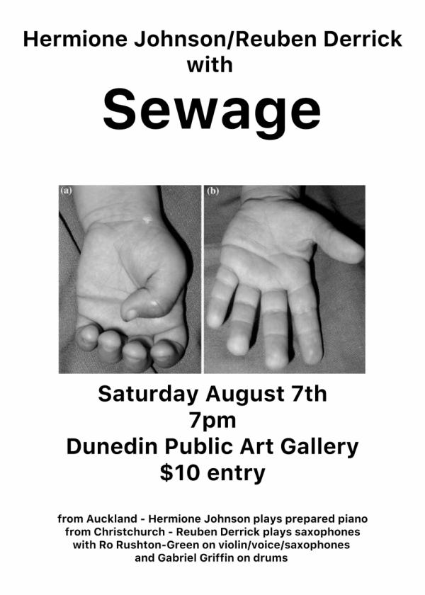 Hermione Johnson/Reuben Derrick w/ Sewage At The Dpag