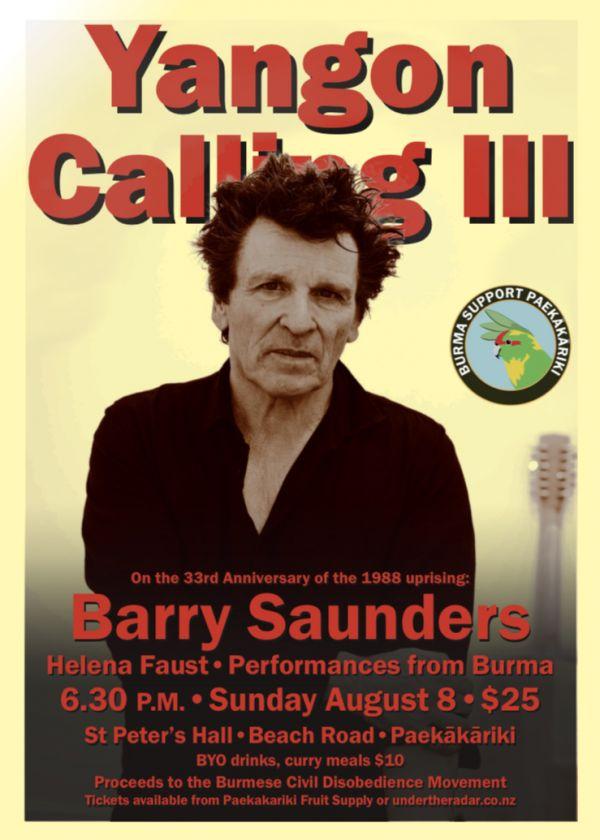 Yangon Calling III: Barry Saunders