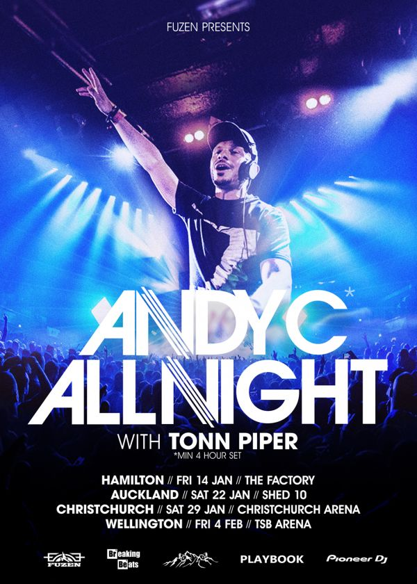 Andy C All Night NZ Tour