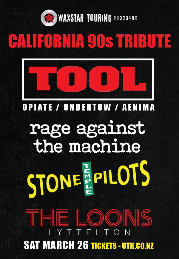 California 90s Tribute: Tool - RATM - STP