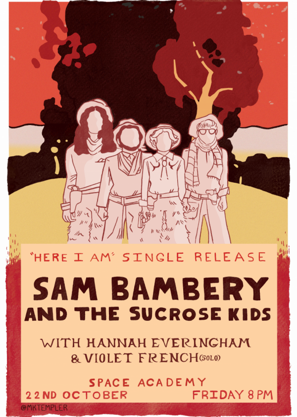 Here I Am Single Release - Sam Bambery And The Sucrose Kids