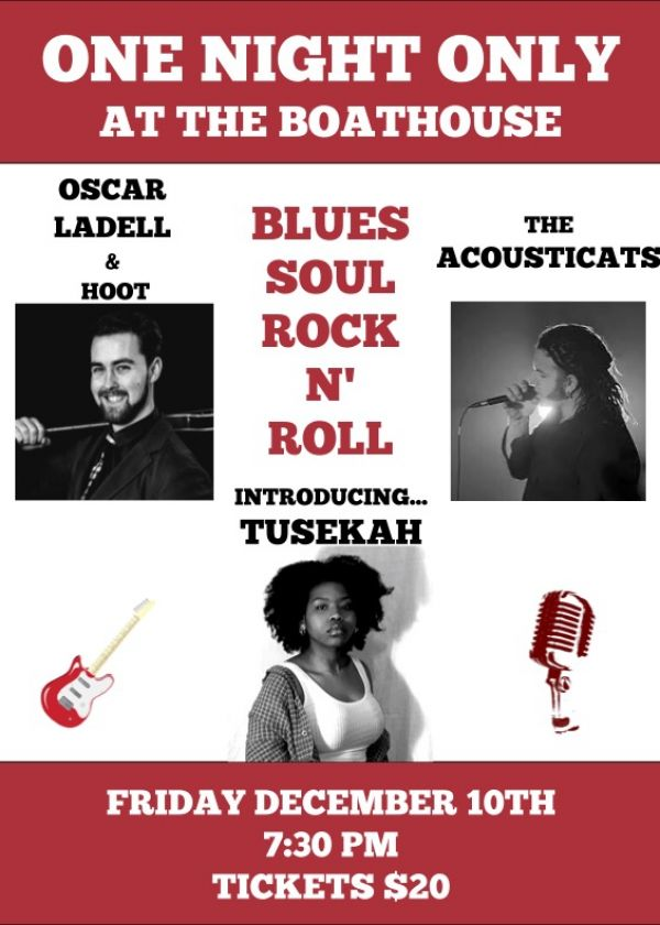 Blues, Soul And Rock N' Roll w/ Oscar Ladell, The Acousticats and Tusekah
