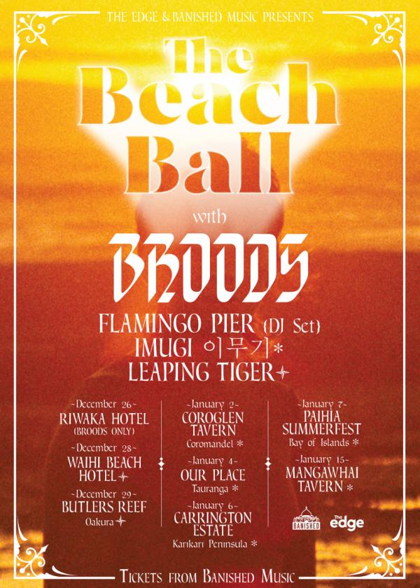 The Beach Ball w/ Broods, Flamingo Pier (dj Set) and Imugi