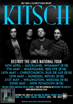 Kitsch Destroy The Lines National Tour