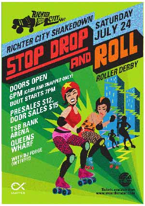 Richter City Roller Derby Shakedown: Stop Drop and Roll