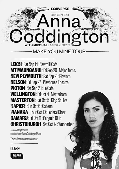 Anna Coddington Make You Mine Tour