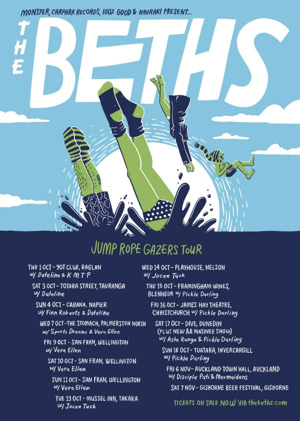 The Beths - Jump Rope Gazers Tour