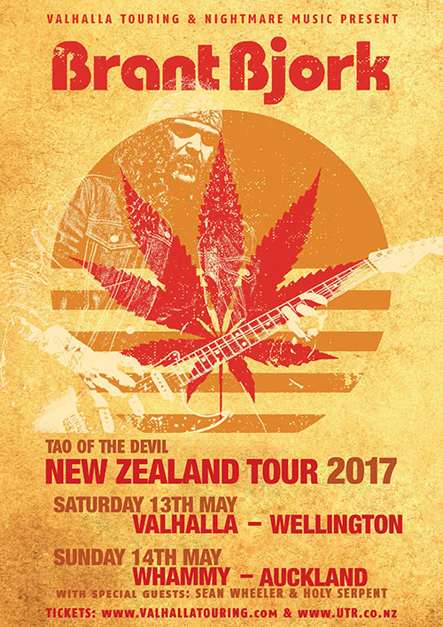 Brant Bjork -  Tao of the Devil New Zealand Tour