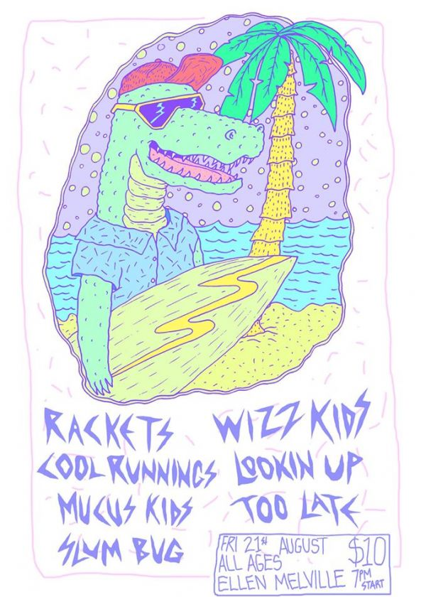 All Ages Show Feat Rackets, Wizz Kids, The Raw Nerves and More