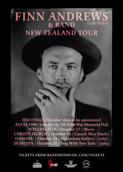 Finn Andrews Solo (the Veils) New Zealand Tour: New Date