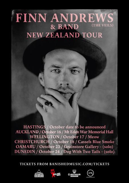 Finn Andrews Solo (the Veils) New Zealand Tour