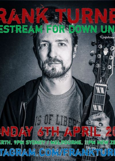 Frank Turner Livestream for Down Under