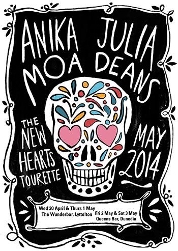 Anika Moa and Julia Deans - New Hearts Tourrette
