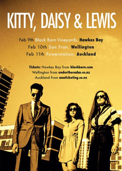 Kitty, Daisy and Lewis - 2018 New Zealand Tour