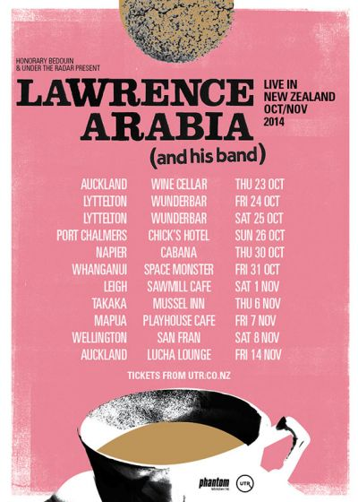 Lawrence Arabia New Zealand Tour