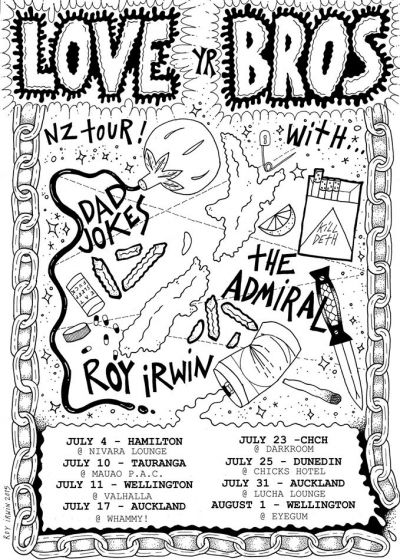 Love Yr Bros Tour Feat The Admiral, Dad Jokes and Roy Irwin