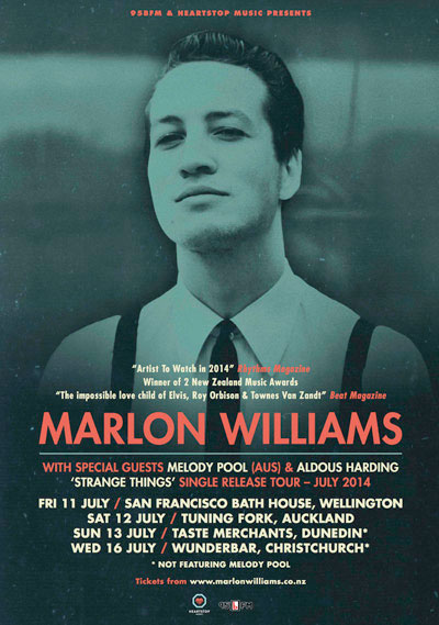 Marlon Williams Single Release Tour