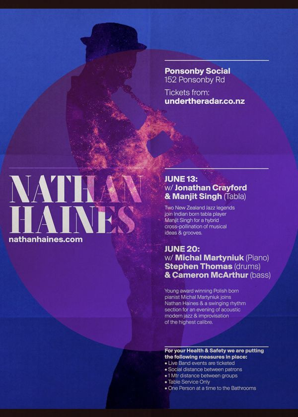 Nathan Haines Acoustic with pianist Michal Martyniuk and Stephen Thomas (drums) and Cameron McArthur (bass)