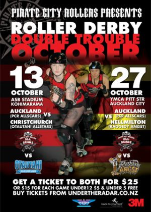 Pirate City Rollers Presents: Double Trouble October - Barfoot