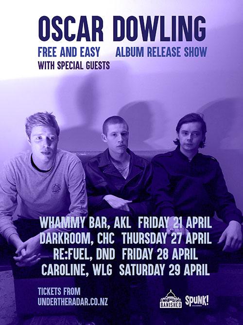 Oscar Dowling - Free and Easy Album Release Tour