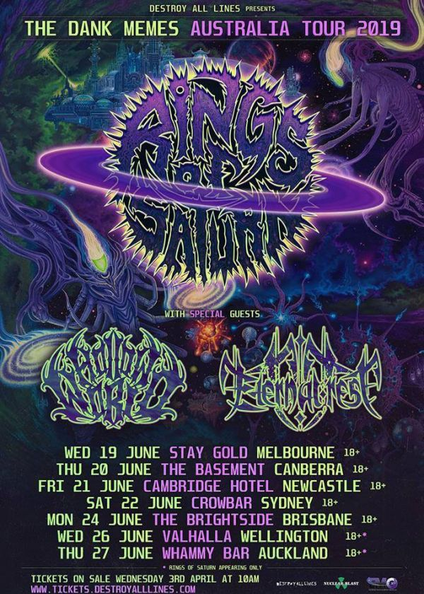 Rings Of Saturn - Dark Memes NZ Tour