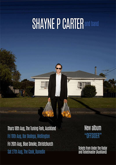 Shayne P Carter and Band - The Offsider Tour