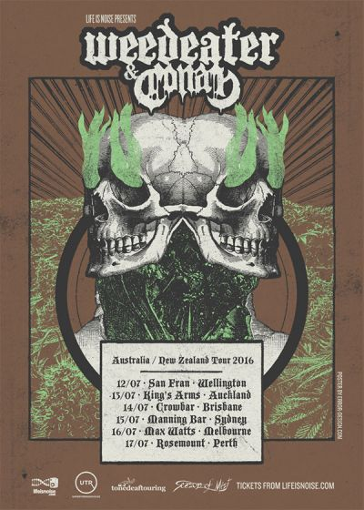Weedeater and Conan New Zealand Tour