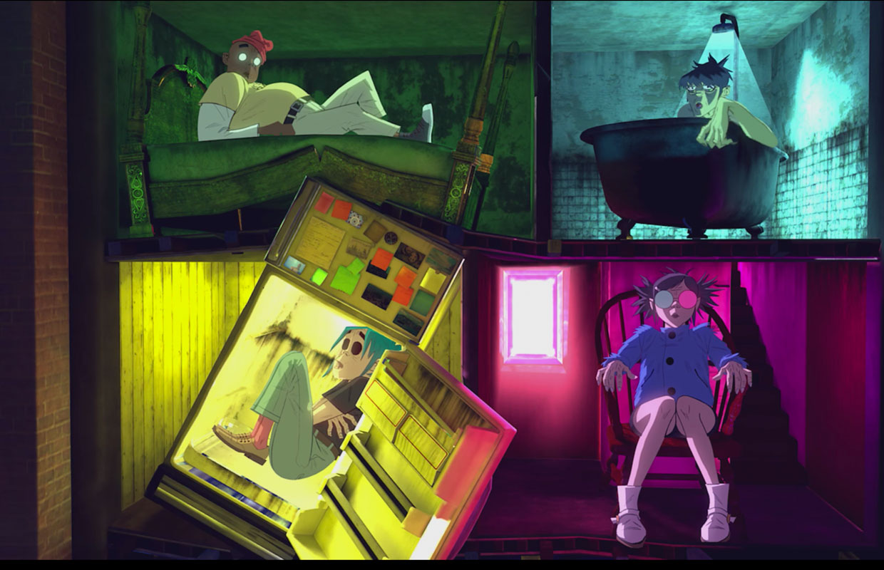 Everyone's favourite virtual band Gorillaz has dropped a spooky video for their new tune 'Saturnz Barz' along with three more fresh cuts. The video, available in extra enveloping-360° mode, shows the fictitious musicians enter a haunted house and... <span class='readMoreLink'><a href='/news/12389/Gorillaz-Drop-Four-New-Songs--Immersive-360-Video-For-Saturnz-Barz.utr'>&mdash;more</a></span>