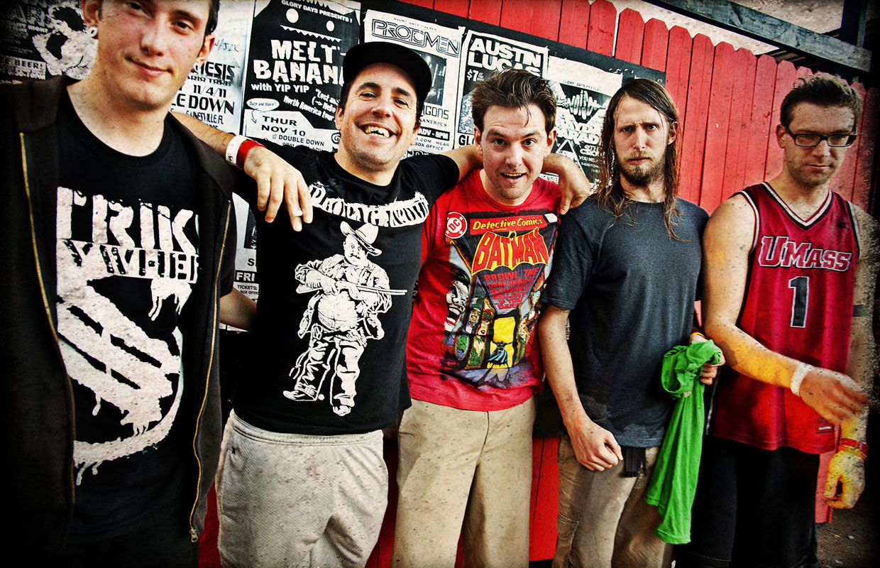Massachusetts punks A Wilhelm Scream are currently hurtling towards New Zealand to play a one-off show at Auckland dive bar Whammy on Thursday night. The group have been been promising a follow-up to 2013's full length album Party Crasher for some... <span class='readMoreLink'><a href='/news/11195/Heres-Five-A-Wilhelm-Scream.utr'>&mdash;more</a></span>