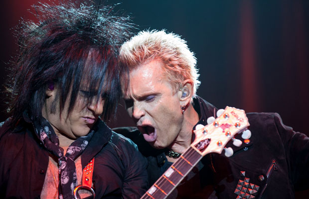 Eighties icon Billy Idol kicked off New Zealand tour last night with a show at Vector Arena in Auckland. Idol and his band pulled no punches as they energetically worked through a whole raft of material spanning his career including music from his... <a href='/news/9519/Live-Photos-Billy-Idol---Vector-Arena-Auckland.utr'>more</a>