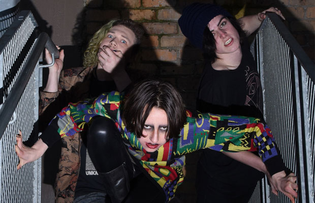 A few weeks ago, Auckland sewerpunks Mucus Kids unveiled their unruly debut EP Mosh For Jesus through local label Powertool Records. The trio, made up of Loz L'estranja (human sounds), Madison Von Uber Rothschild (banging) and Sebasschin Cumball... <span class='readMoreLink'><a href='/news/9873/Interview-Mucus-Kids.utr'>&mdash;more</a></span>