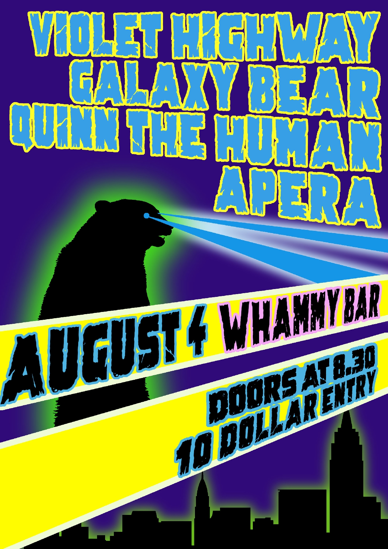 Violet Highway, Quinn The Human, Galaxy Bear and Apera
