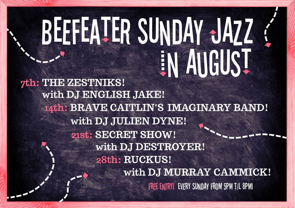 Beefeater Sunday Jazz with Brave Caitlin's Imaginary Band