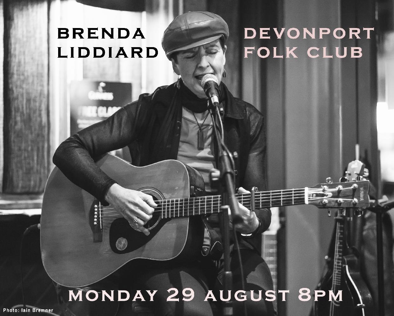 Devonport Folk Club with Brenda Liddiard